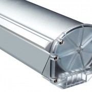 Expolinc Roll-Up Compact: Die leicht transparenten Seiten und die abgerundeten Ecken vermitteln einen attraktiven Eindruck
